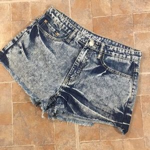YMI high waisted jean shorts size juniors 9